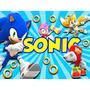 Kit Imprimible Sonic Diseña Cumples Tarjetas Y Mas