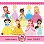 Kit Imprimible Princesas Disney 4 Imagenes Clipart
