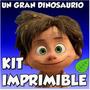 Kit Imprimible Un Gran Dinosaurio Cotillón Cumpleaños Fiesta