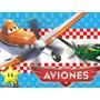 Kit Imprimible Aviones Disney Diseñá Tarjetas, Cumples 2x1