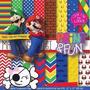 Kit Imprimible Pack Fondos Mario Bross Clipart