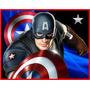 Kit Imprimible Capitan America Diseñá Tarjeta Invitacion 2x1