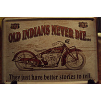 Lata Antigua Motocicleta Indians