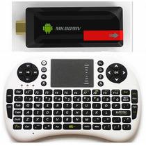 Mini Android Pc Smart Tv Mk809iv + Teclado Con Mouse Inalamb