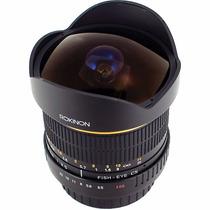 Lente Ojo De Pez Rokinon Fe8m Nuevos Nikon Y Canon. Nuevos