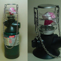 Lámpara Gas U.s.a. C/ Balón Recargable Coleman,lámpara Nueva