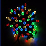Luces Navidad Solares, 200 Led Multicolor, 8 Secuencias