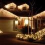Luces Navidad Matrimonio Cascada Led 2,3 Mts Blanco Calido