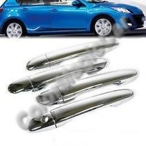 Mazda 3 (2010, 2011, 2012, 2013) Kit Cubre Manillas Cromadas