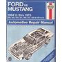 Manual De Taller Ford Mustang 1964-1973