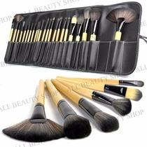 Manta 24 Pinceles, Brochas De Maquillaje Uso Profesional