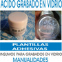 Acido Grabado Vidrio, Plantillas Manualidades
