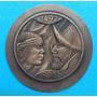Impronta De Medalla Encuentro De Dos Mundos 1492 - 1992.