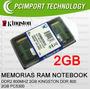 Memoria Ram Notebook Ddr2 800 Mhz 2gb Kingston A Todo Chile