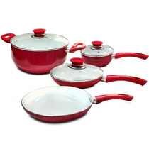 Set De Batería De Cocina 7 Piezas, Ceramica, Ollas /fernapet