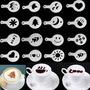Plantillas Stencil Para Cafe 16 Piezas De Diseños Diferentes