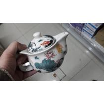 Tetera De Porcelana China Diseño Chino Con Infusor Metalico