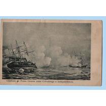 Guerra Del Pacífico - Postal Combate De Punta Gruesa