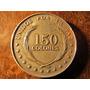Moneda Plata 900 El Salvador 150 Colones 1992 3,7 Centimetro