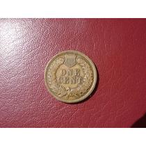 Moneda Estados Unidos 1 Cent Indio 1902