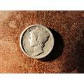 Moneda Plata U.s.a. Estados Unidos One Dime 1917 S Liberty