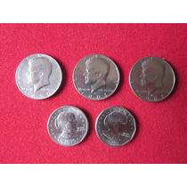 Oferton 5 Monedas - 3 Medios Dollar Y 2 Monedas De Dollar