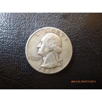 Moneda Estados Unidos Quarter Dollar 1947 Plata 0.900