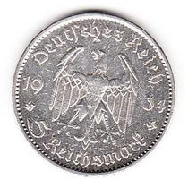 Moneda Alemana Germany 5 Reichsmark 1934 Tercer Raich