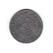 Moneda Alemana Deutscher Reich 1941 5 Reichsmart Cruz Suast