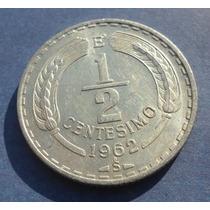 Monedas De Chile 1/2 Centésimo 1962 Escasa Valor $ 3.000