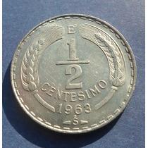 Monedas De Chile 1/2 Centésimo 1963 Escasa Valor $ 3.000