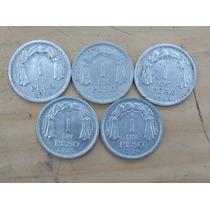 Moneda Chilena De Un Peso 1954 - 1955 - 1956 - 1957 - 1958