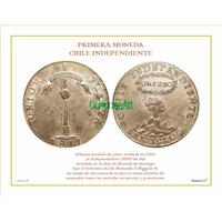 Lámina 18- 1 Peso 1817 Chile Independiente Dl Album 150 Años