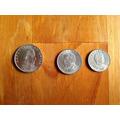 3 Monedas Antiguas Chilenas- Año 1971
