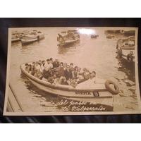 Antigua Foto Postal Paseo Por El Puerto Valparaiso 1955