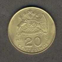 Moneda 20 Centesimos Año 1971