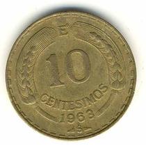 Moneda 10 Centesimos Año 1963