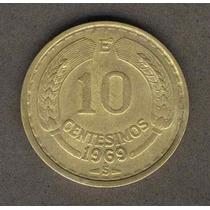 Moneda 10 Centesimos Año 1969