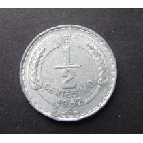Moneda Chilena 1/2 Centesimo De Escudo 1962