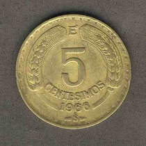 Moneda 5 Centesimos Año 1966