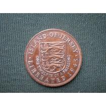 Jersey 1/12 Shilling 1945 Liberación De La Isla W W Ii