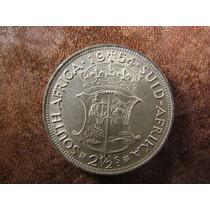 Moneda Plata Sudafrica 2 1/2 Schilling 1954 14,2 Gramos