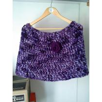 Exclusivo Poncho Tejido A Crochet,talla S !!!!