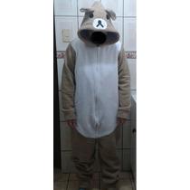 Pijama/disfraz Polar Enterito Oso Rilakkuma Kigurumi Adultos