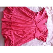 Polera Marca Zara Talla S Tipo Maternal Color Damasco Rosa
