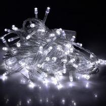 Guirnalda Navidad - Luces Led Blanco Frío Con Pilas Aa