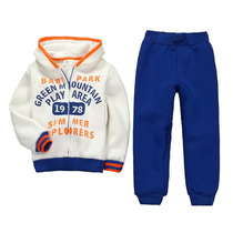 Conjunto Buzo Niño Azul Y Crema Talla 2 A La 7