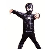 Disfraz Niño Spiderman Hombre Araña Negro