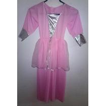 Disfraz Vestido Rosado De Princesa