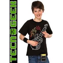 Polera Electrónica Para Niños Con Guitarra Eléctrica